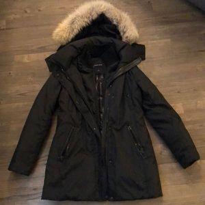Andrew Marc Down Coat with Raccoon Fur Hood